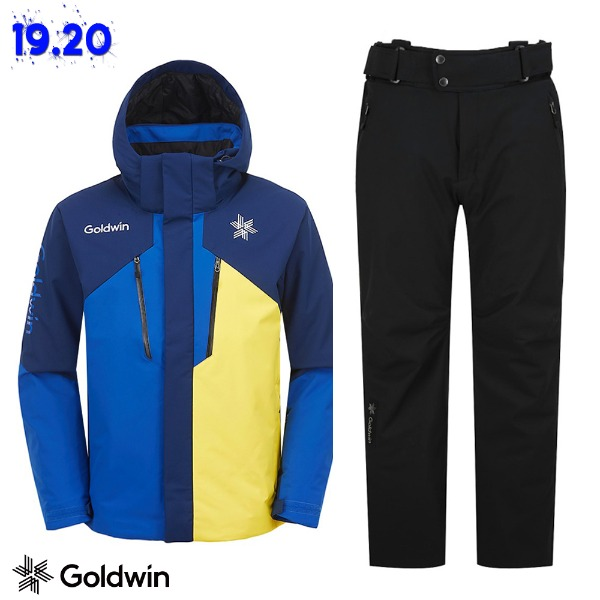 1920 GOLDWIN ALPINE JACKET(GJ2NK51B) NAVY + 1819 ALPINE PANTS(GP6NJ52E) BLK (골드윈 알파인자켓+팬츠 스키복 상하의세트)