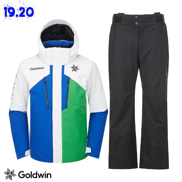 1920 GOLDWIN ALPINE JACKET(GJ2NK51B) BLU + 1920 ALPINE PANTS(GP6NK51B) BLK (골드윈 알파인자켓+팬츠 스키복 상하의세트)