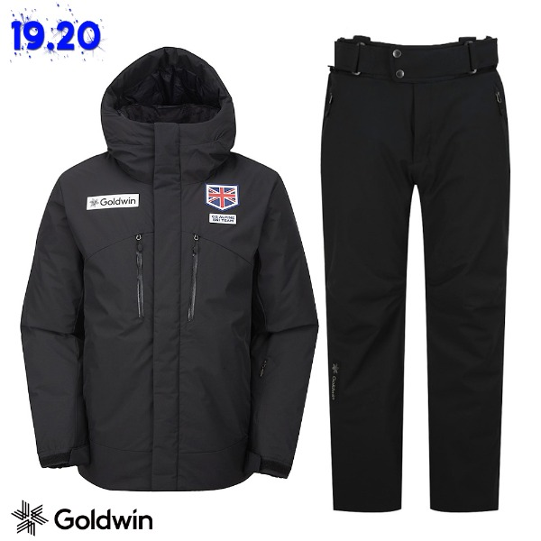 1920 GOLDWIN PERFORMANCE 2 DOWN(GJ1DK51A)BLK  JKT  + 1819 ALPINE PANTS(GP6NJ52E) BLK (골드윈 알파인자켓+팬츠 스키복 상하의세트)